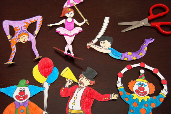 STEP 5 Circus Paper Dolls