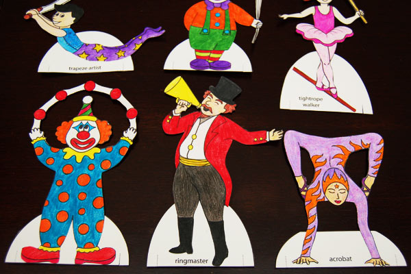 STEP 7 Circus Paper Dolls