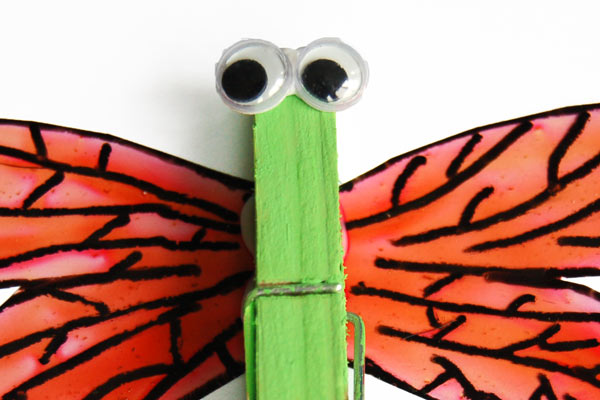 STEP 6 Clothespin Dragonfly