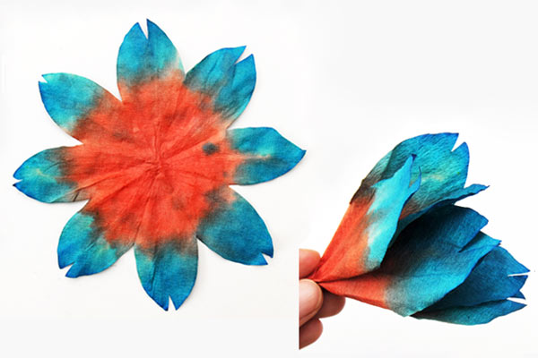 MORE IDEAS - Make three-dimensional flowers (Step 1).