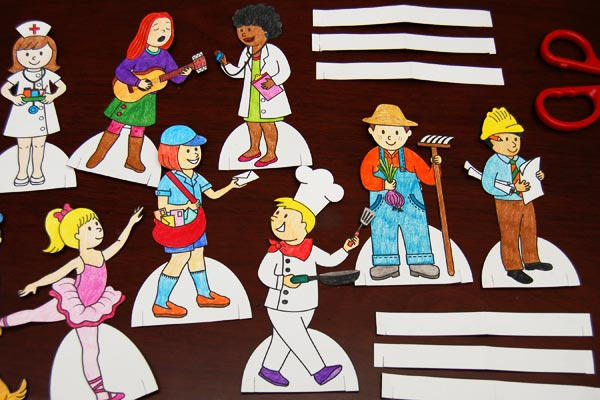 STEP 3 Community Helper Paper Dolls