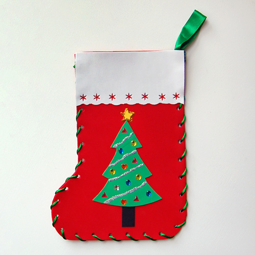 Step 16b Craft Foam Christmas Stocking