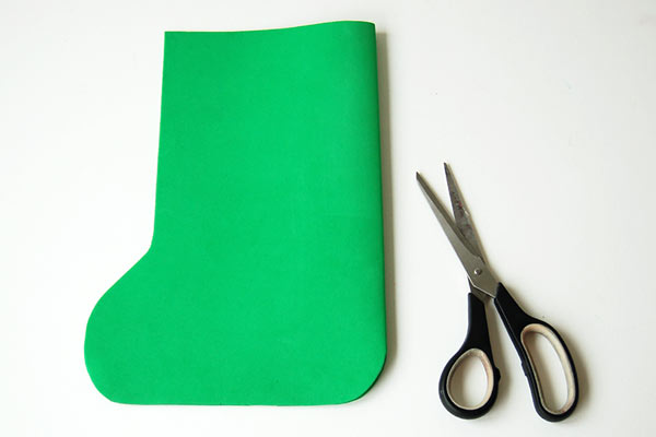 Step 4 Craft Foam Christmas Stocking