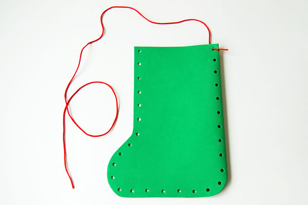 Step 6 Craft Foam Christmas Stocking