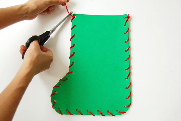 Step 8 Craft Foam Christmas Stocking