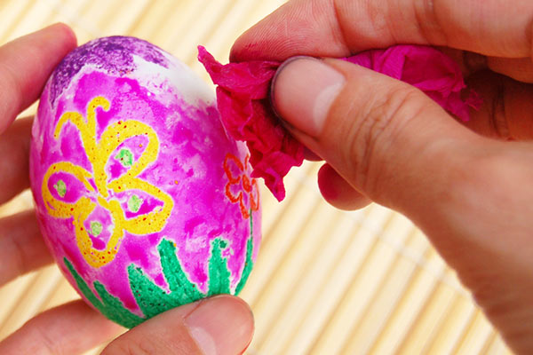 STEP 3d Crayon Resist Eggs