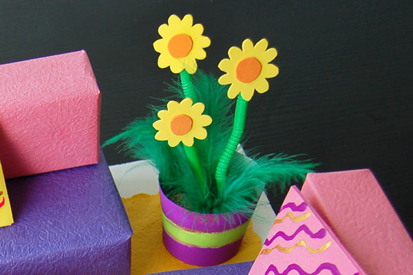 Create potted plants.