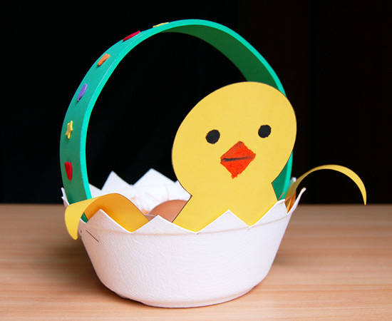 STEP 10 Easter Chick Basket