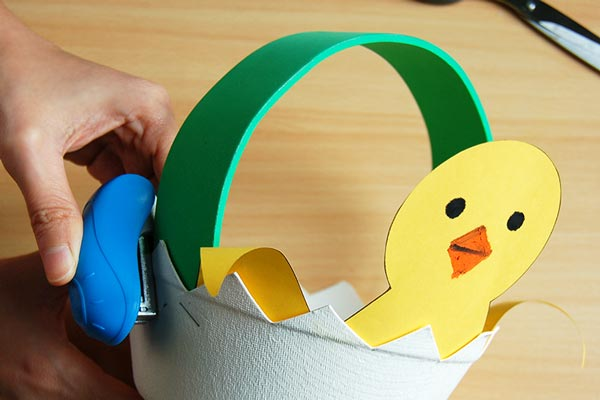 STEP 9 Easter Chick Basket