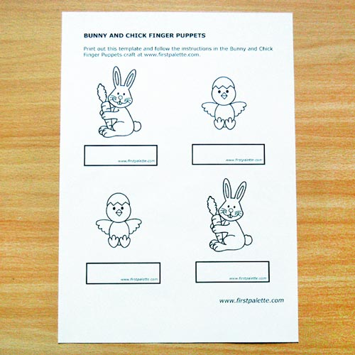 STEP 1 Easter Finger Puppets
