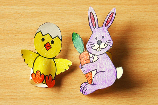 STEP 9 Easter Finger Puppets