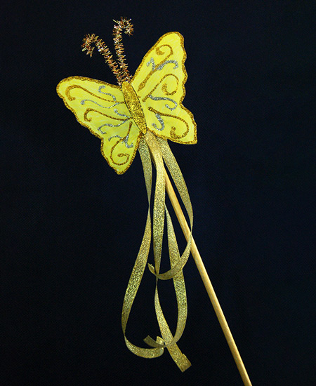 MORE IDEAS - Make a butterfly wand.