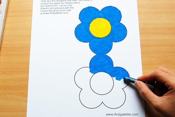 STEP 2 Flower Greeting Card