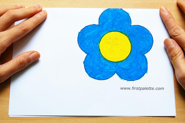STEP 3 Flower Greeting Card