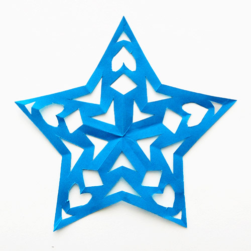 MORE IDEAS - Make a paper cut star (Step 2).