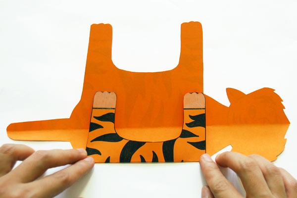 Step 4 Folding Paper Zoo Animals
