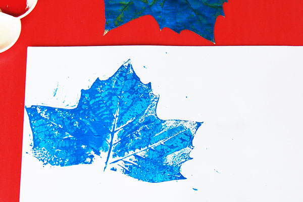 STEP 5 Leaf Prints
