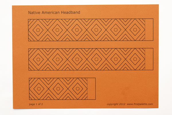 Step 1 Native American Headband with Template