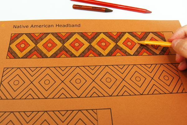 Step 2 Native American Headband with Template