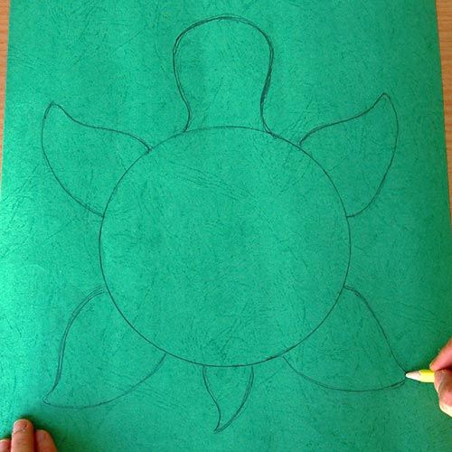 STEP 3 Paper Bowl Turtle