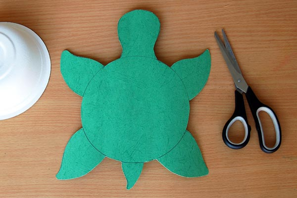 STEP 4 Paper Bowl Turtle