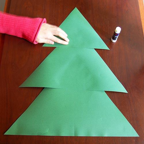 Paper Christmas Tree.Paper Christmas Tree Kids Crafts Fun Craft Ideas