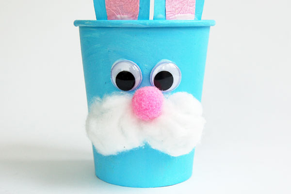 Step 6 Paper Cup Bunny Basket