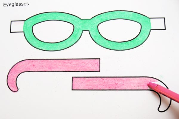 Step 2 Paper Eyeglasses