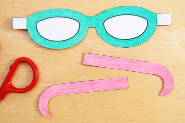 Step 3 Paper Eyeglasses
