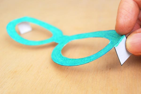 Step 5 Paper Eyeglasses