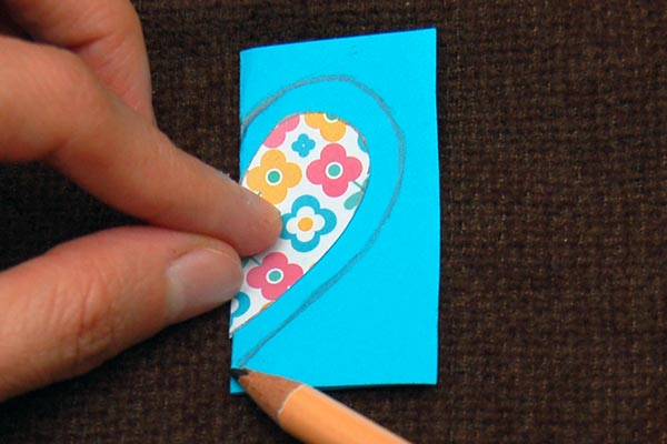 Step a Paper Heart Bookmark