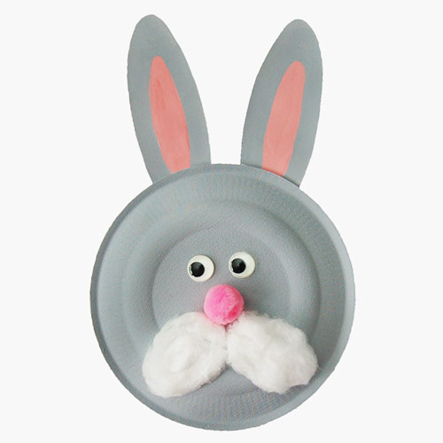 MORE IDEAS - Paper Plate Bunny