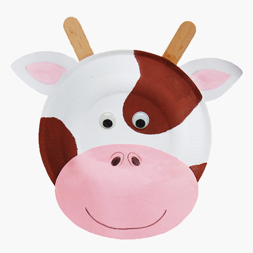 MORE IDEAS - Paper Plate Cow