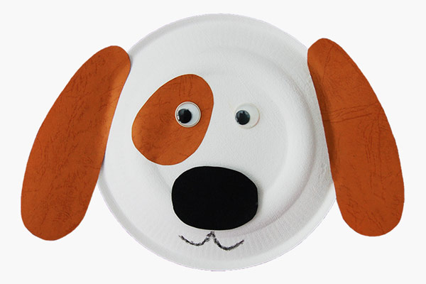 MORE IDEAS - Paper Plate Puppy