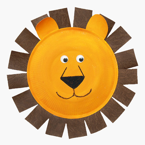 MORE IDEAS - Paper Plate Lion