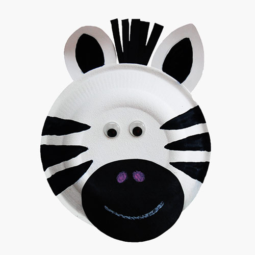 MORE IDEAS - Paper Plate Zebra