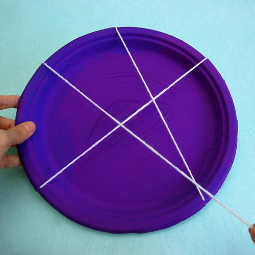 STEP 10 Paper Plate Spider Web