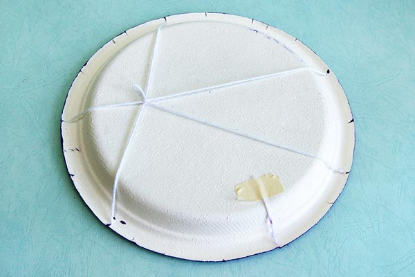 STEP 11 Paper Plate Spider Web