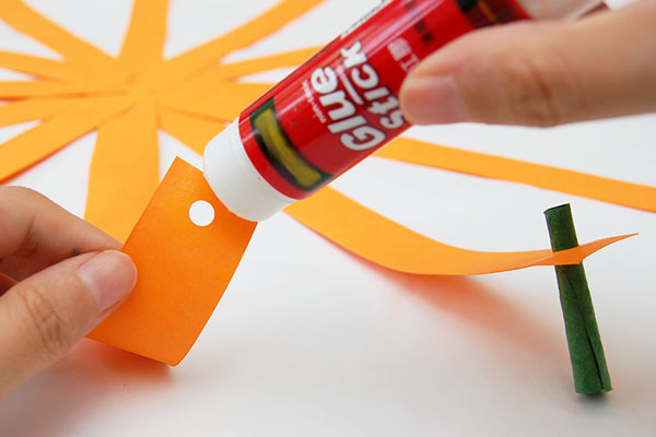 STEP 10 Paper Strip Pumpkin