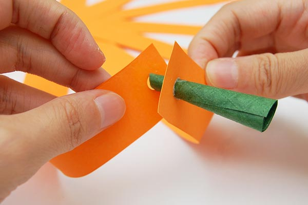 STEP 11 Paper Strip Pumpkin