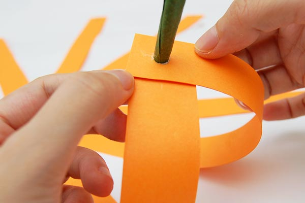STEP 12 Paper Strip Pumpkin
