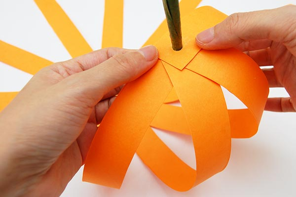 STEP 13 Paper Strip Pumpkin