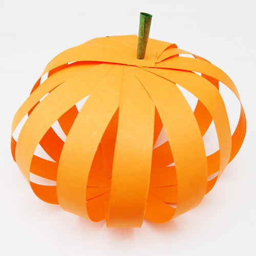 STEP 14 Paper Strip Pumpkin