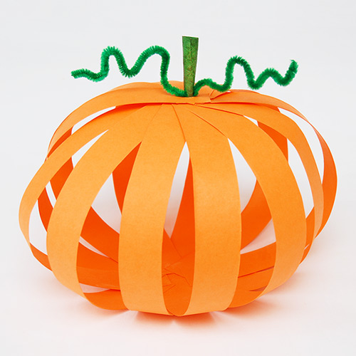 STEP 17 Paper Strip Pumpkin