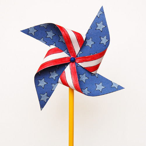 MORE IDEAS - Make a Fourth of July pinwheel.