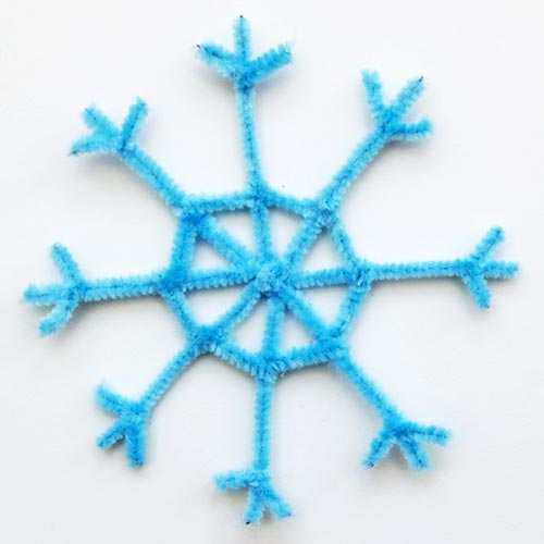 STEP 13 Pipe Cleaner Snowflake