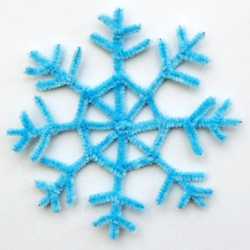 STEP 14 Pipe Cleaner Snowflake