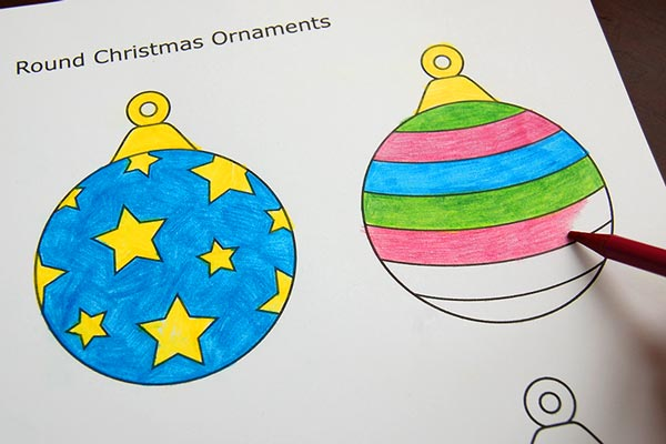 STEP 2 Printable Christmas Tree Ornaments