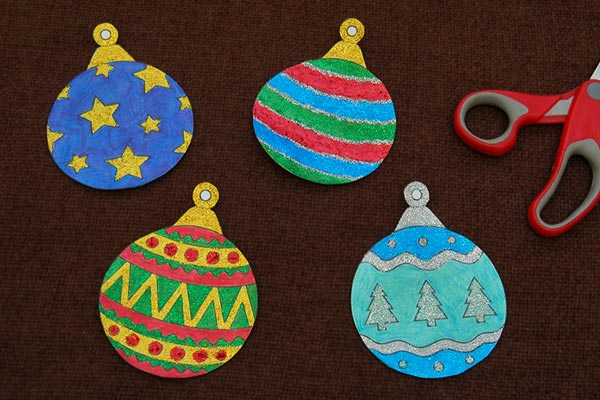 STEP 4 Printable Christmas Tree Ornaments