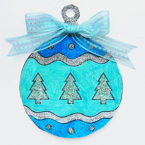 STEP 6a Printable Christmas Tree Ornaments